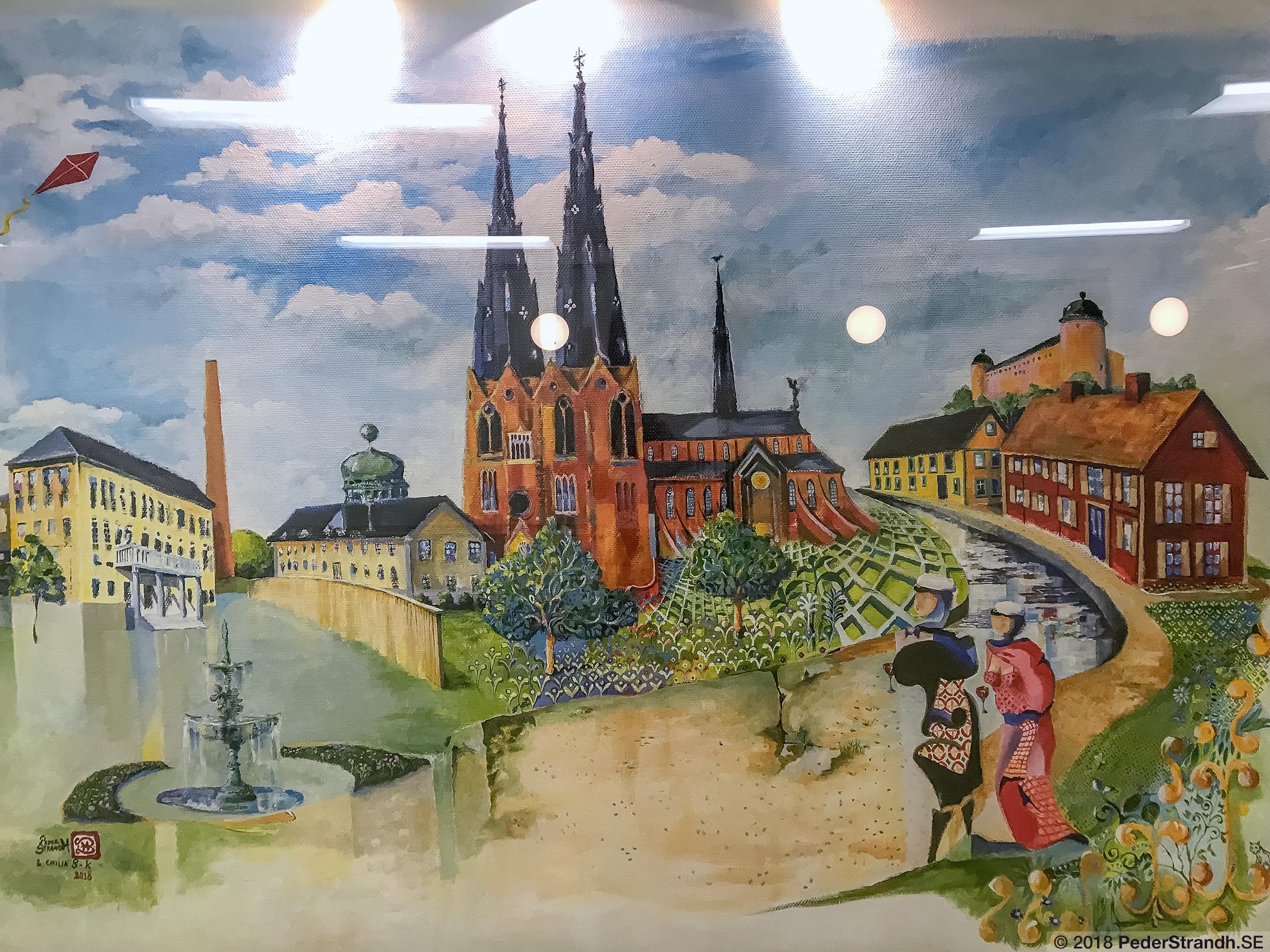 """Med """"Basilikan mitt i byn"""" fick jag en muralmålning i Uppsalas Stabby"""